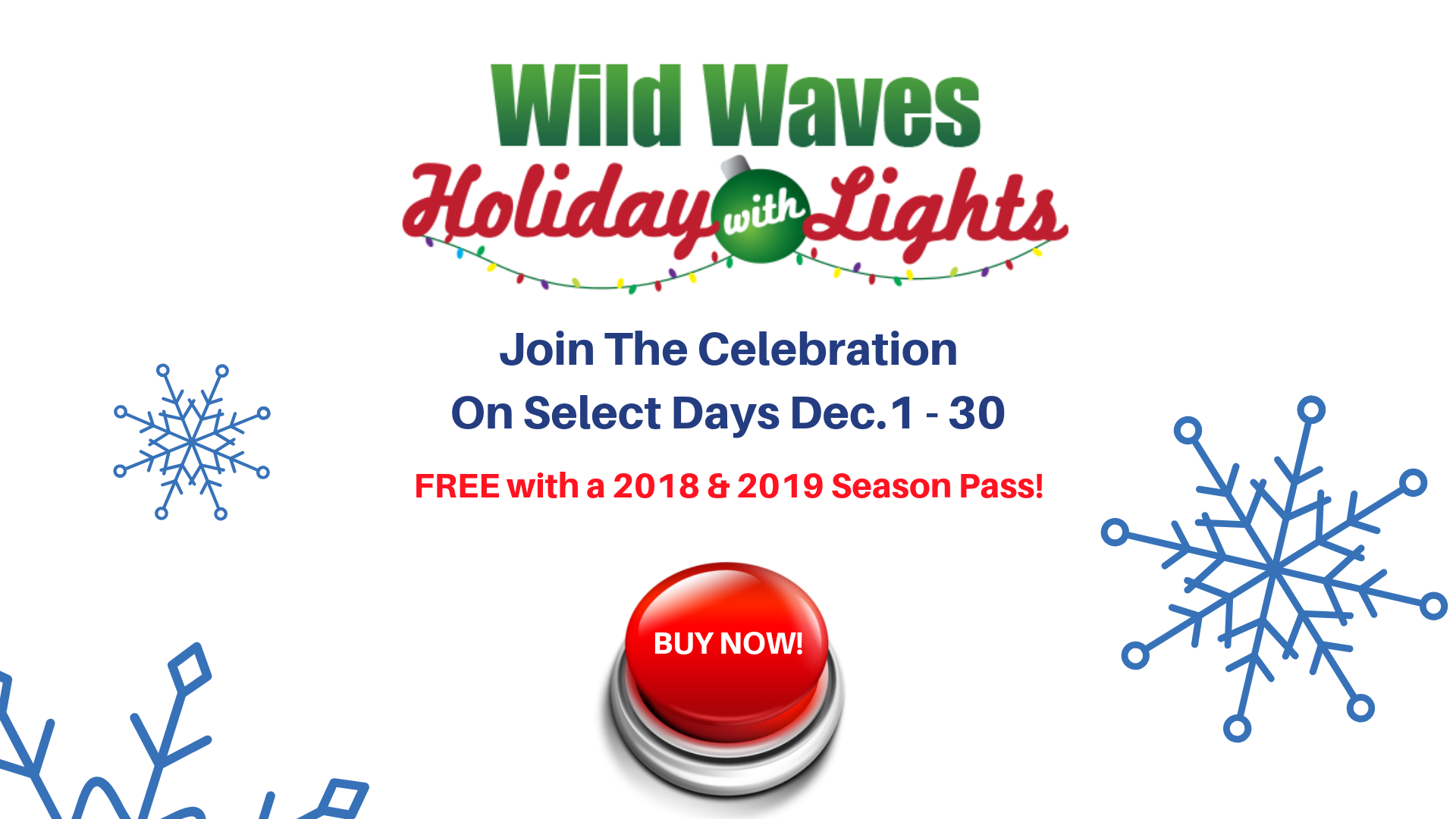 Wild Waves Christmas Lights 2019 Wild Waves Theme and Water Park